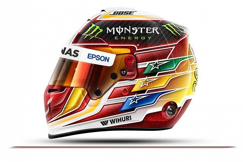 Lewis Hamilton reveals F1 2017 helmet competition design winner - F1 - Autosport