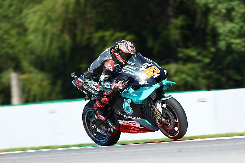 "Quartararo explains ""weird"" traction issue in Czech GP Friday practice"