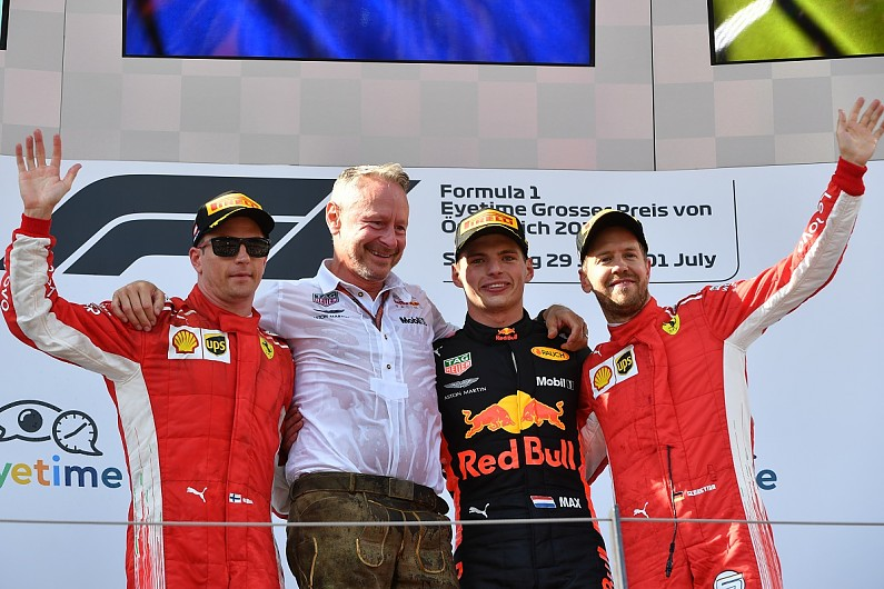 Verstappen wins in Austria as Vettel grabs lead in standings