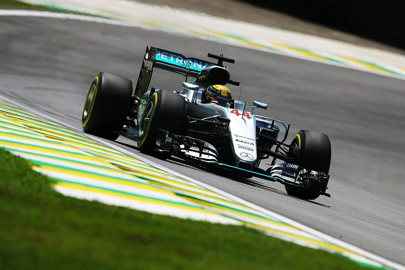 Lewis Hamilton top in Brazilian Grand Prix second practice