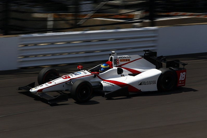 bourdais taken to hospital after violent indy 500 qualifying crash indycar autosport. Black Bedroom Furniture Sets. Home Design Ideas
