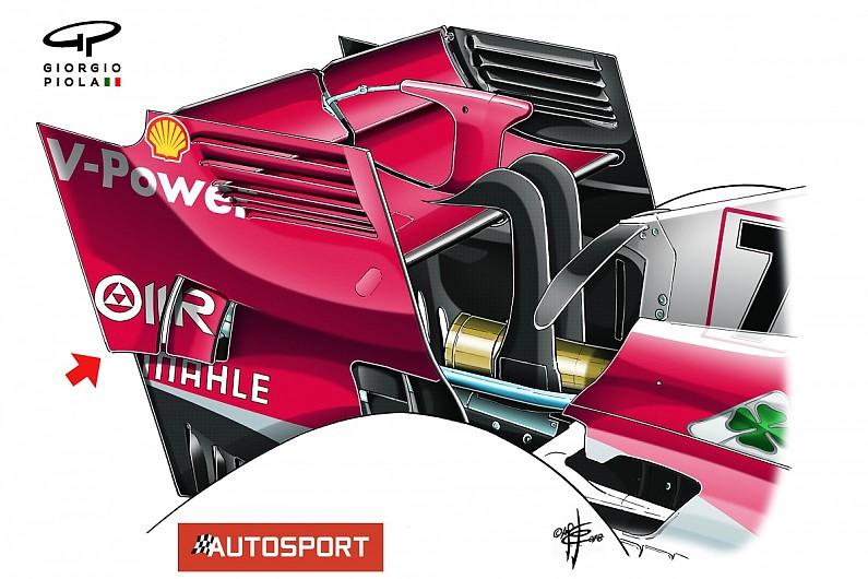 Ferrari becomes latest F1 team to copy McLaren's rear wing idea