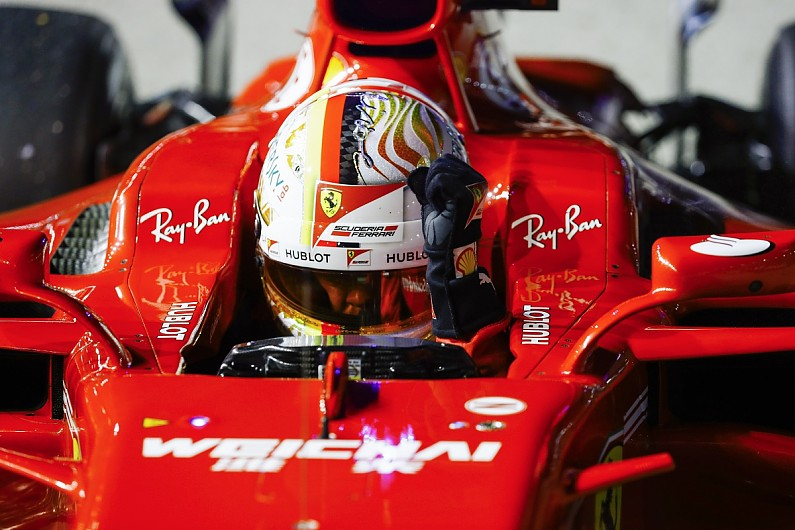 Ferrari F1 driver Vettel 'lucky' to complete Singapore GP pole lap