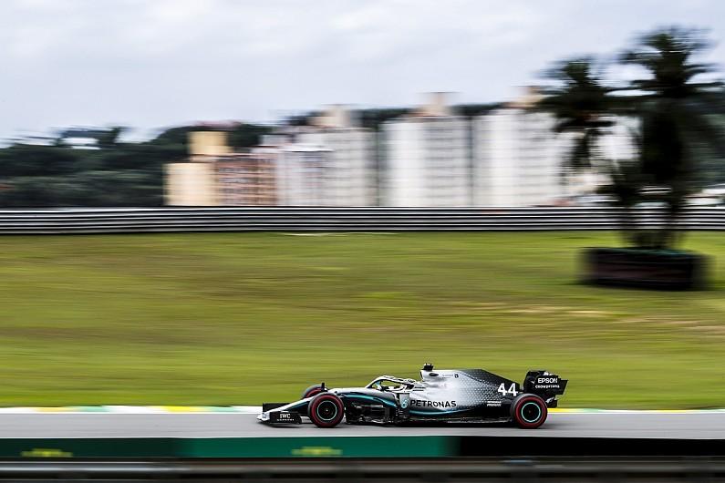 Brazilian GP practice: Lewis Hamilton narrowly leads Max Verstappen