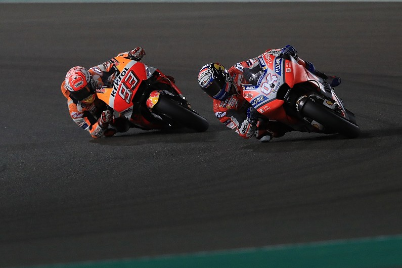 Andrea Dovizioso worried by Marc Marquez's speed at Qatar MotoGP