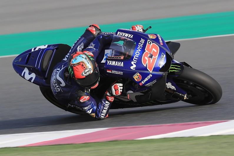 Qatar Motogp Test Maverick Vinales Leads Day One For Yamaha