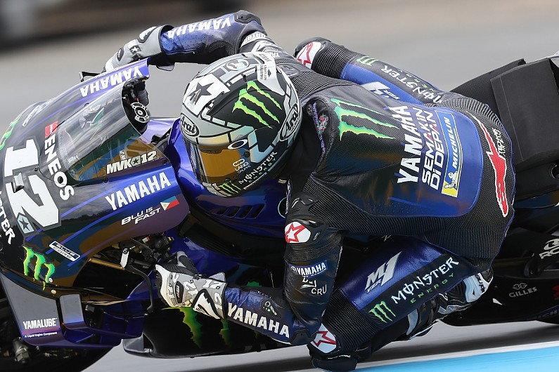 MotoGP Le Mans: Vinales tops wet FP3, Rossi and Rins to run in Q2
