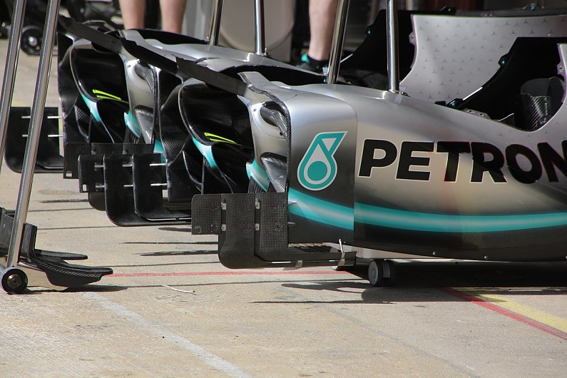 First Look At Mercedes Spanish Gp Formula 1 Car Developments F1