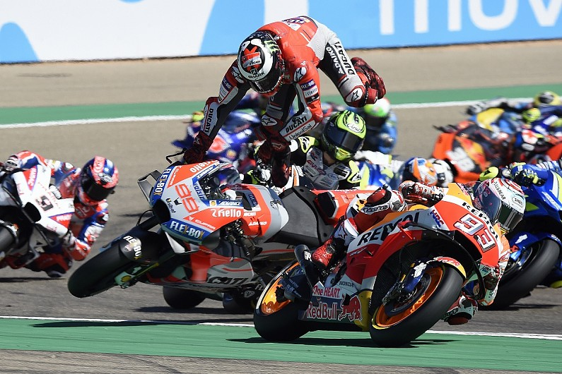 Lorenzo Marquez Destroyed My Motogp Aragon Race Caused Foot Injury Motogp Autosport