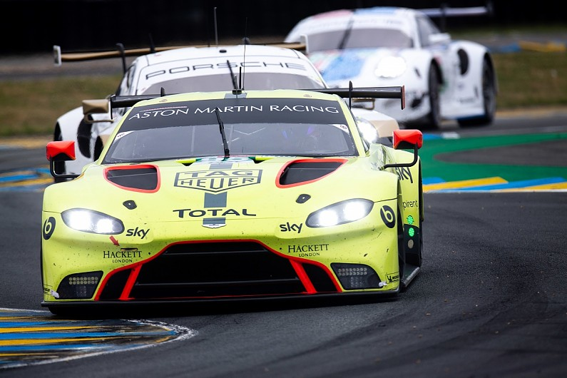 Late Bop Change Left Aston Martin To Just Drive Around At Le Mans Wec News Autosport