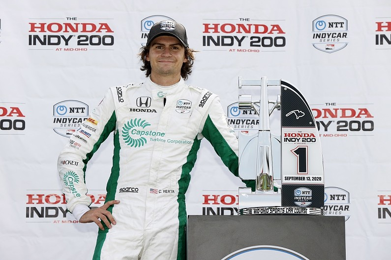 Herta: IndyCar Mid-Ohio win came despite wrong tyre strategy - Motor Informed