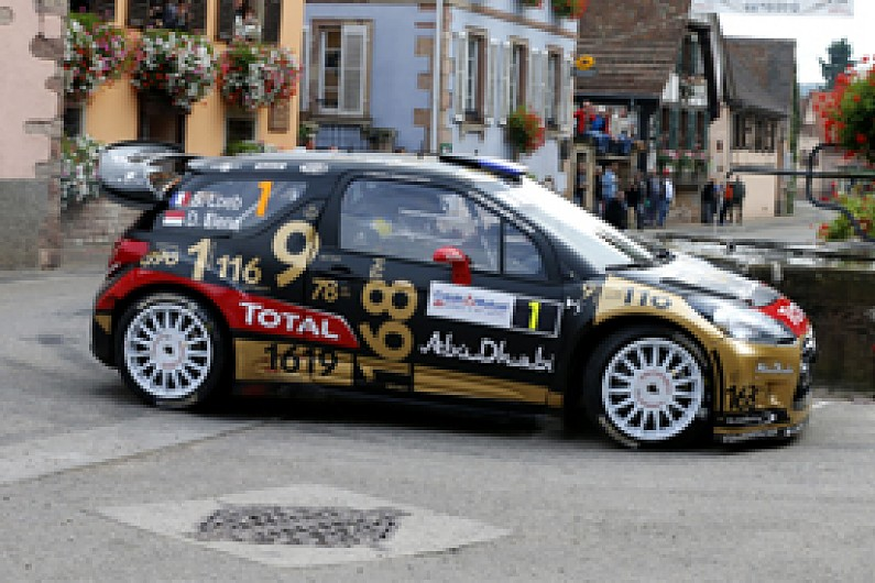 wrc france sebastien loeb crashes out of final rally wrc autosport. Black Bedroom Furniture Sets. Home Design Ideas