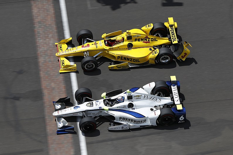 Penske's Castroneves feels Hildebrand cost him shot at Indy 500 win