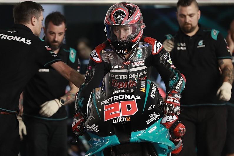 Qatar MotoGP testing: Quartararo tops second day as Marquez crashes