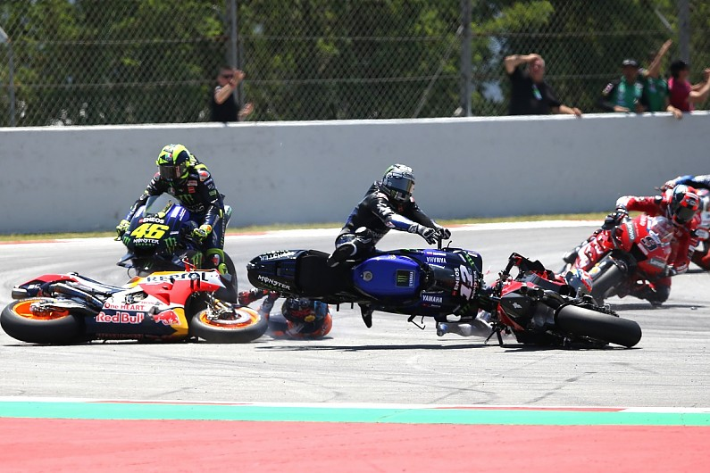 Vinales slams Lorenzo for causing four-bike Barcelona MotoGP crash