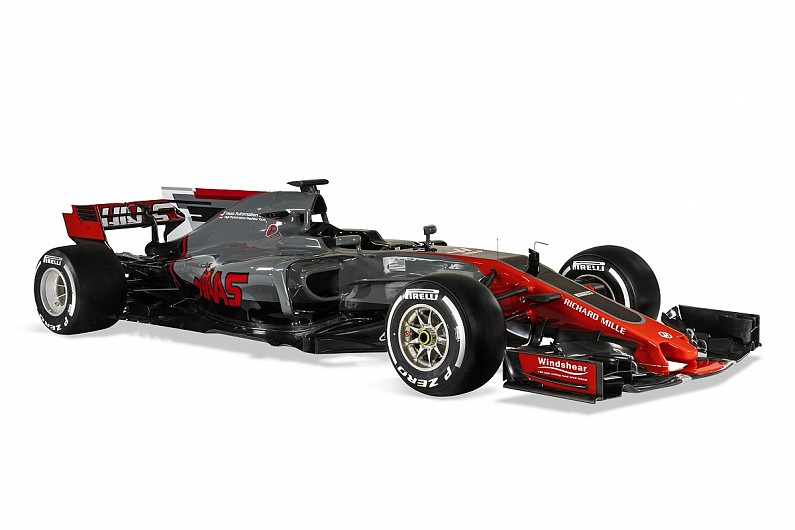 haas unveils its vf 17 challenger for 2017 f1 season f1 autosport. Black Bedroom Furniture Sets. Home Design Ideas