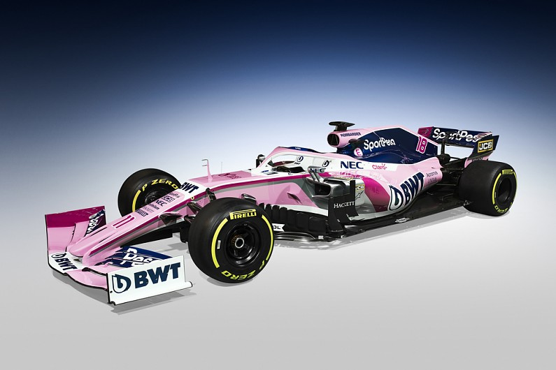 racing point formula 1 team unveils 2019 livery and title. Black Bedroom Furniture Sets. Home Design Ideas