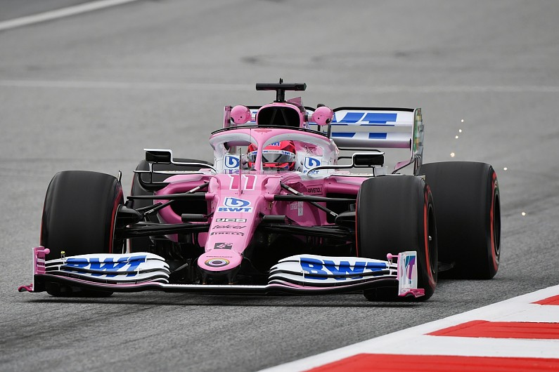 "Racing Point can't get ""too excited"" at practice pace - Perez"