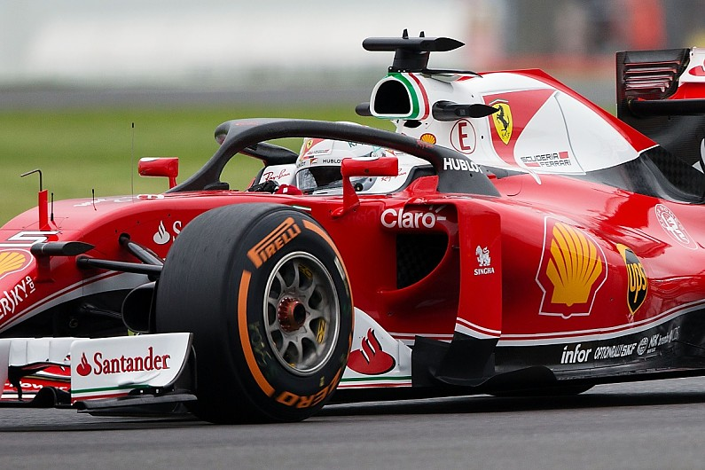 f1 halo sebastian vettel raises visibility concerns after silverstone run f1 autosport. Black Bedroom Furniture Sets. Home Design Ideas