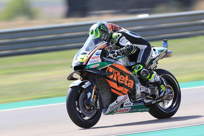 Motogp Aragon Crutchlow Fastest In Fp3 Factory Yamahas To Contest