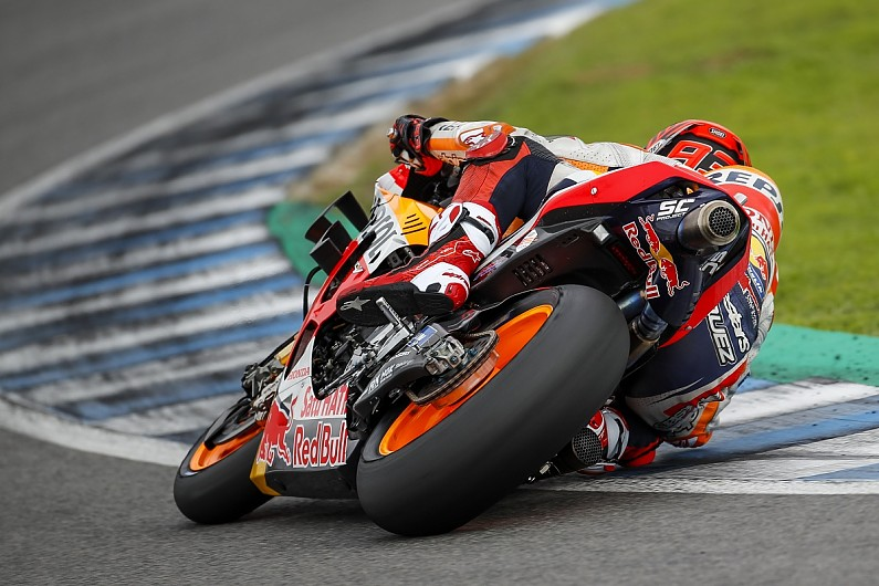 Marquez fastest, 2019 MotoGP testing ends early after rain at Jerez
