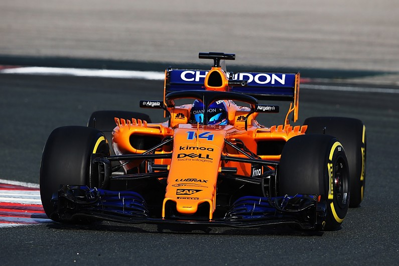 Renault-powered McLaren 2018 F1 car hits track for first time - F1 - Autosport