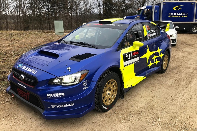 Oliver Solberg – son of Petter – takes second on Subaru USA debut