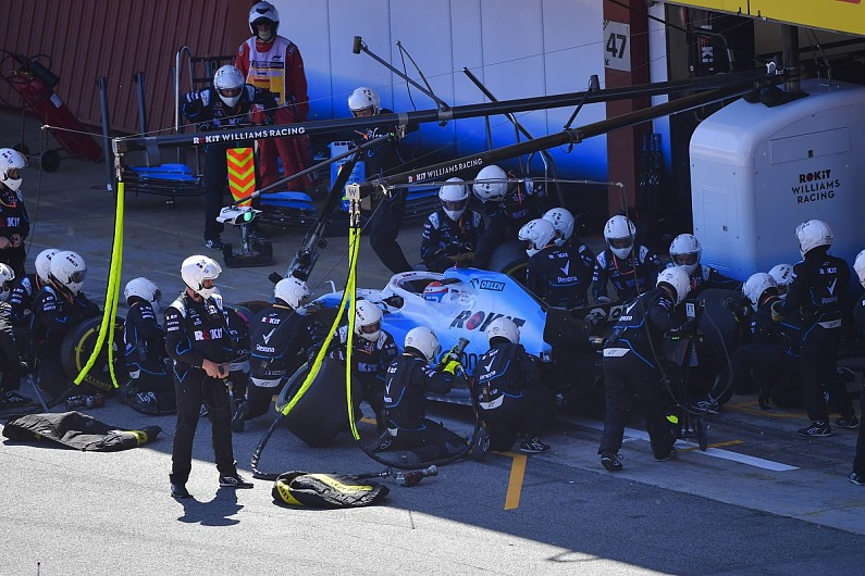 """Williams F1 pitstops proving """"we're not a bunch of idiots"""" - Russell"""