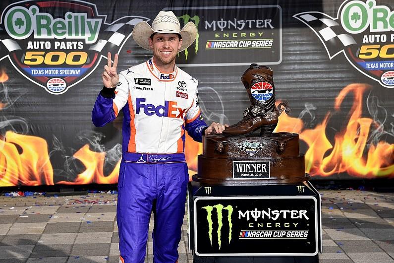 Toyota NASCAR driver Hamlin wins at Texas despite pit penalties