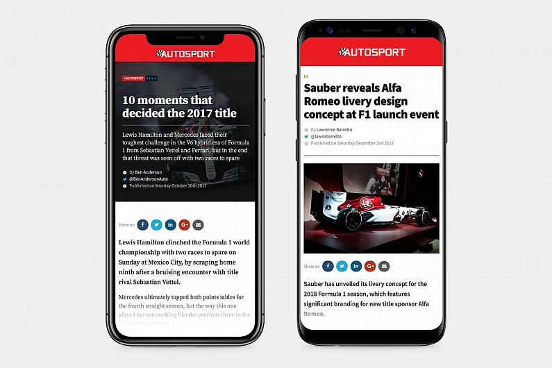 Autosport launches brand new mobile app for Apple and Android
