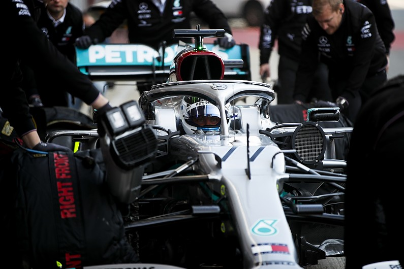 Mercedes had to make engine change at first 2020 Barcelona F1 test