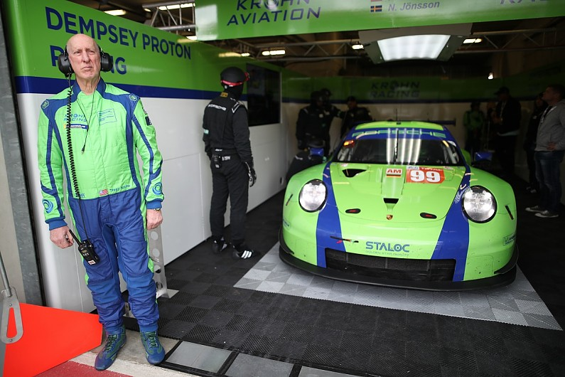 Dempsey Proton Porsche Out Of Le Mans 24 Hours After Krohns Crash