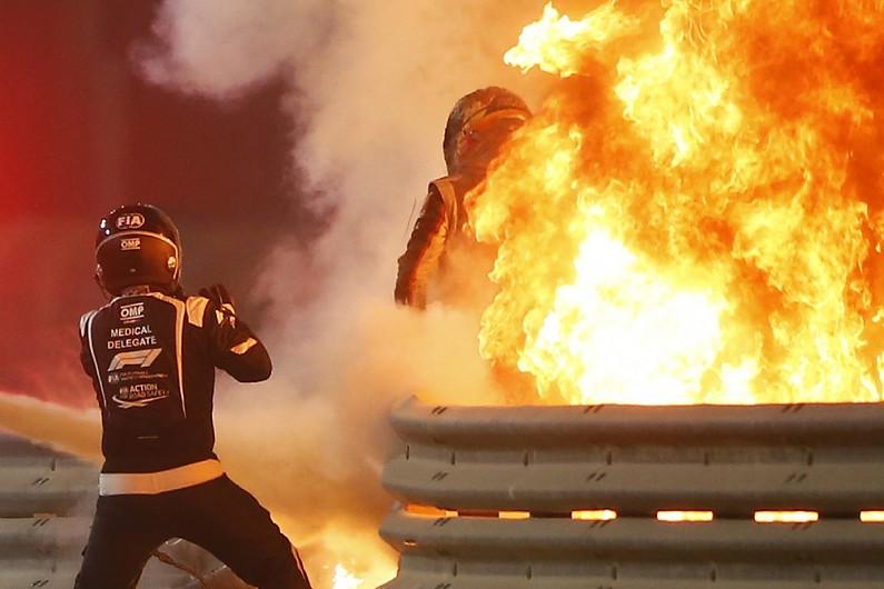 """Grosjean recalls Bahrain F1 fire escape: """"I saw death coming"""""""