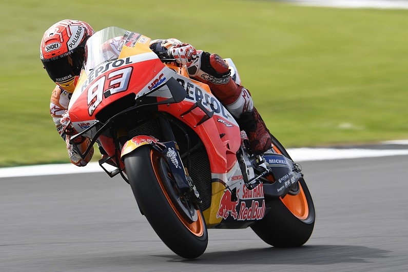 Silverstone MotoGP: Marc Marquez breaks lap record as he sets pace