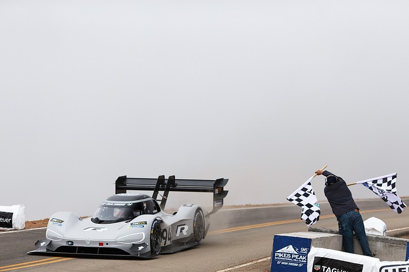 Electric Volkswagen smashes Sebastien Loeb's Pikes Peak record