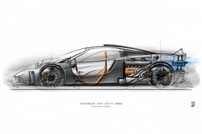 Gordon Murray working with Formula 1's Racing Point on T.50 supercar