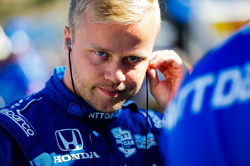 "Felix Rosenqvist suggests IndyCar officials are ""against"" him"