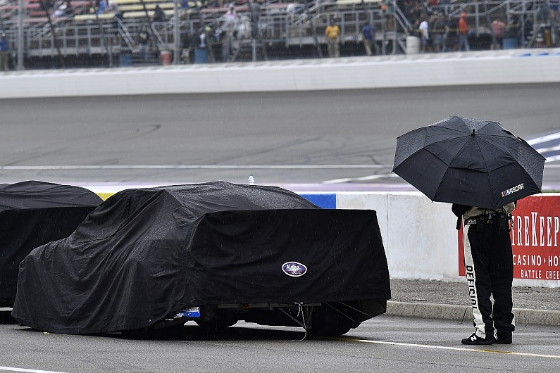 Michigan NASCAR Cup race postponed to Monday by rain