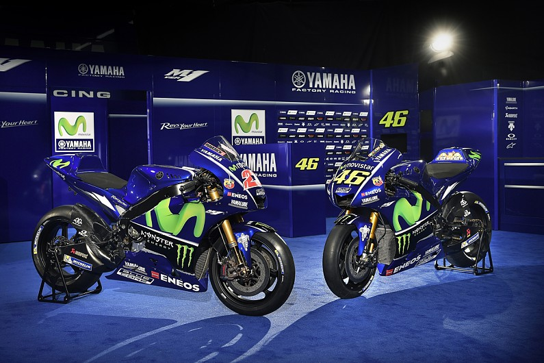 Yamaha 2017 Motogp Bike Launched With Rossi And Vinales Motogp