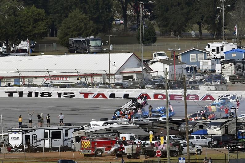 NASCAR Talladega flip driver Gaughan wants OK to race from parents
