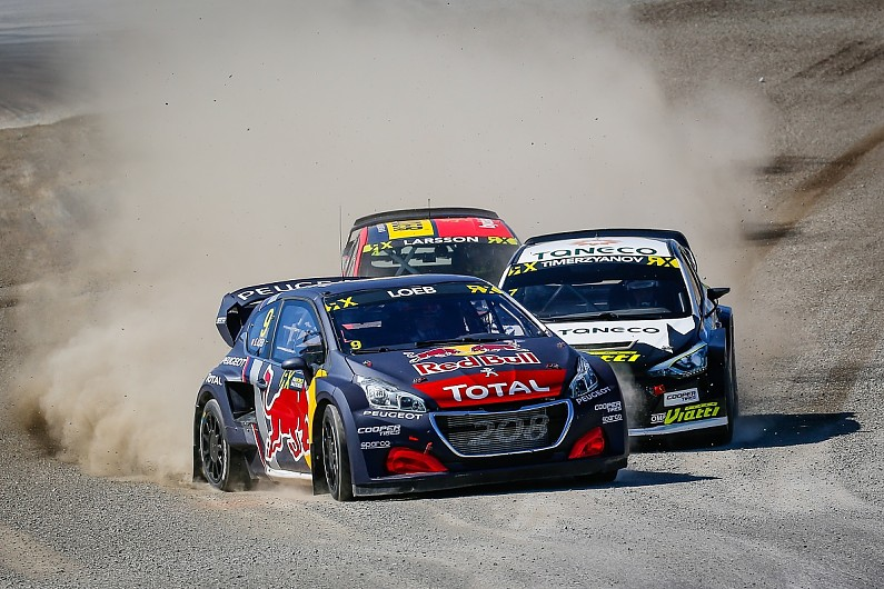Image result for Peugeot bringing new World RX car for Loeb and Hansen at Holjes