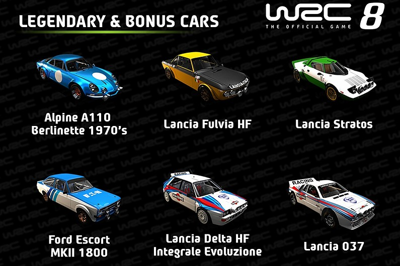 WRC8 reveals classic WRC car roster ahead of game launch