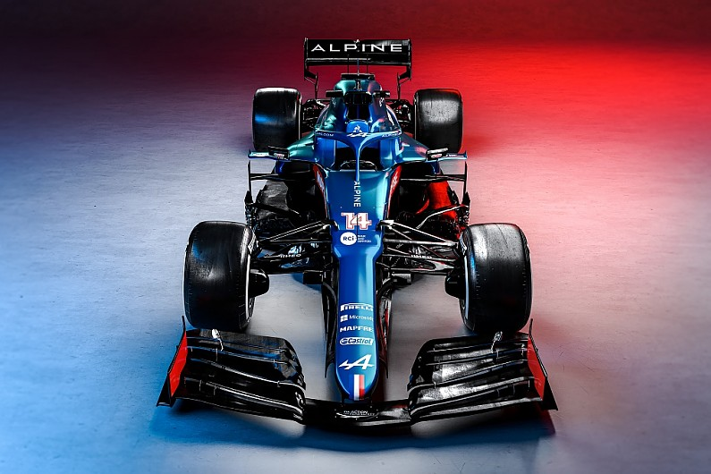 Alpine A521 F1 car unveiled following winter rebrand