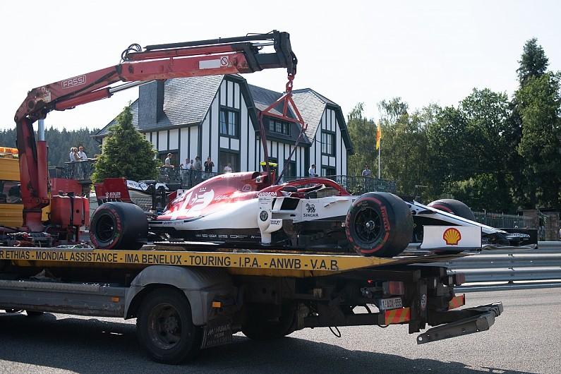 Late Spa shunt could have cost Giovinazzi his drive - Alfa
