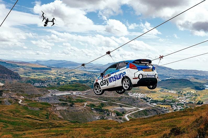 Terrific Fiesta Completes Zip Wire Stunt To Showcase New Rally Gb Stage Wrc Wiring 101 Relewellnesstrialsorg