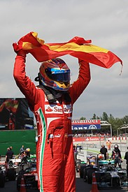 Spanish GP: Fernando Alonso escapes punishment for collecting flag