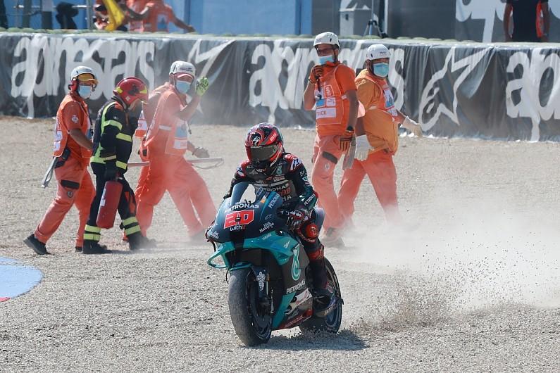 "Quartararo crashed in Misano MotoGP ""pushing like it was the last lap"" - Motor Informed"