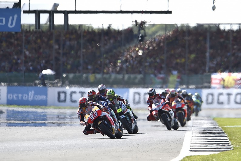 british gp host silverstone absent from draft 2018 motogp calendar motogp autosport