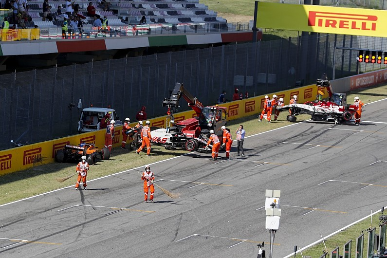 Twelve F1 drivers given warning over pile-up on Tuscan GP safety car restart - Motor Informed