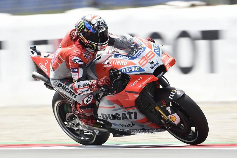 Barcelona Motogp Lorenzo Takes Maiden Ducati Pole Motogp Autosport